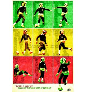 Poster - Bob Marley Football