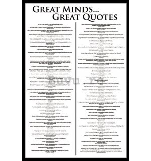 Poster - Great Minds...Great Quotes