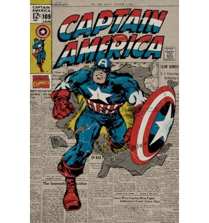 Poster - Captain America (Retro)