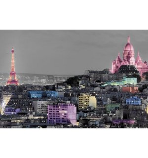 Poster - Paris (Colour splash)