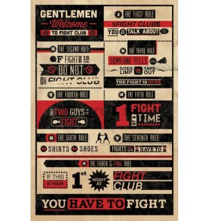Poster - Fight Club Rules (Infographic)
