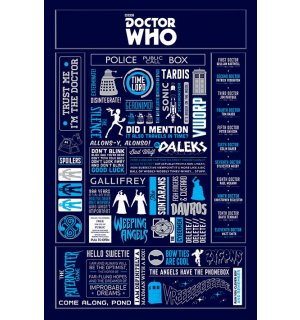 Poster - Doctor Who (Infographics)