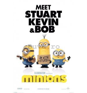 Poster - The Minions (I'm With Stupid)