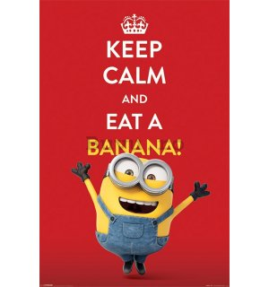 Poster - Minioni (Keep Calm nad Eat Banana!)