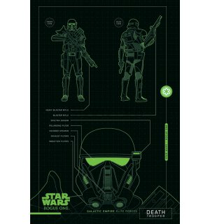 Poster - Star Wars Rogue One (Death Trooper Blueprints)