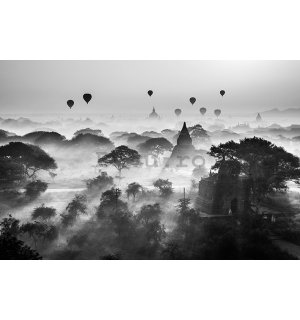 Poster - Balloons over Bagan