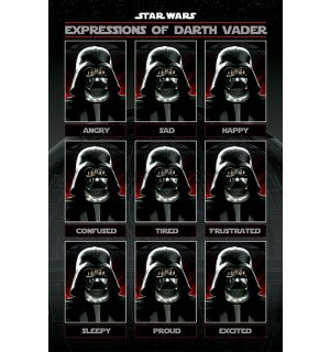 Poster - Star Wars (Expressions of Darth Vader)