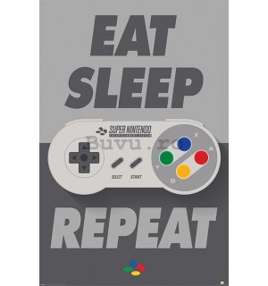 Poster - Nintendo Eat Sleep Repeat