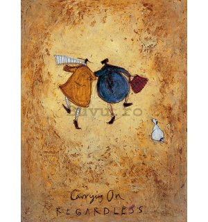 Tablou canvas - Sam Toft, Carrying on Regardless