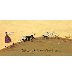 Tablou canvas - Sam Toft, Walking Down to Happiness