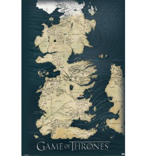 Poster - Game Of Thrones (Mapa)