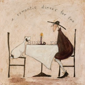 Tablou canvas - Sam Toft, A Romantic Dinner For Two