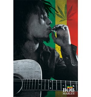 Poster - Bob Marley (colorful smoke)