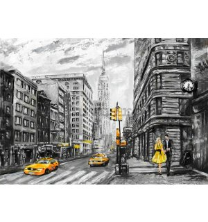 Fototapet vlies: New York (pictat) - 184x254 cm