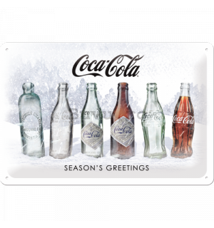 Placă metalică: Coca-Cola White Special Edition (Season's Greetings) - 30x20 cm
