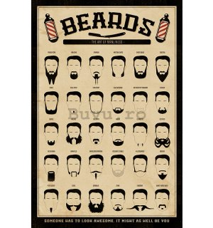 Poster - Beards (The Art of Manliness)