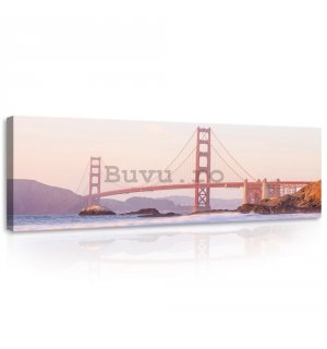 Tablou canvas: Golden Gate Bridge (4) - 145x45 cm