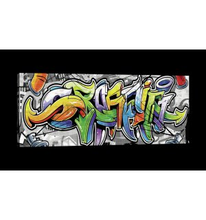 Tablou canvas: Graffiti (12) - 145x45 cm