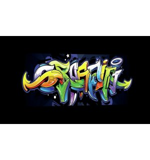 Tablou canvas: Graffiti (4) - 145x45 cm