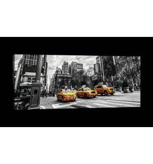 Tablou canvas: New York (Taxi) - 145x45 cm