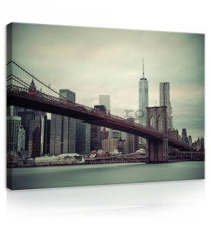 Tablou canvas: Brooklyn Bridge (2) - 75x100 cm