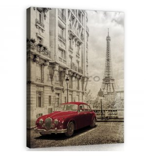 Tablou canvas: Retro Paris - 100x75 cm