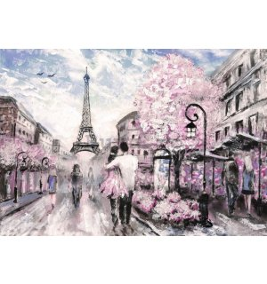 Fototapet: Paris (pictat) - 104x152,5 cm