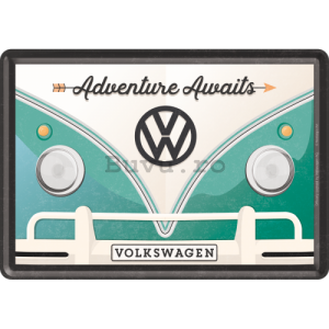 Ilustrată metalică - VW Bulli  (Adventure Awaits)