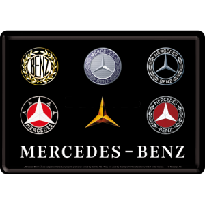Ilustrată metalică - Mercedes-Benz (Logo Evolution)