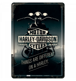Ilustrată metalică - Harley-Davidson ( Things Are Different)