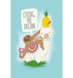 Poster - Living the Dream (Llama nad Sloth)