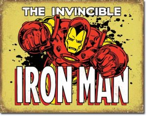 Placă metalică - The Invincible Iron Man (2)