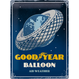 Placă metalică: Goodyear (Balloon Tire) - 40x30 cm