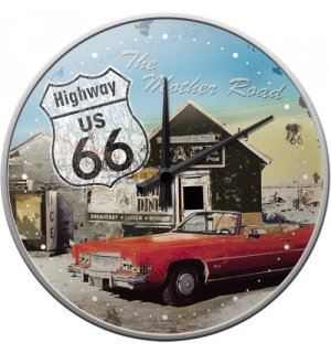 Ceas retro - Route 66 Red Car