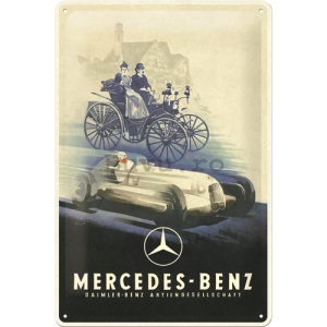 Placă metalică: Mercedes-Benz (Silver Arrow Historic) - 30x20 cm