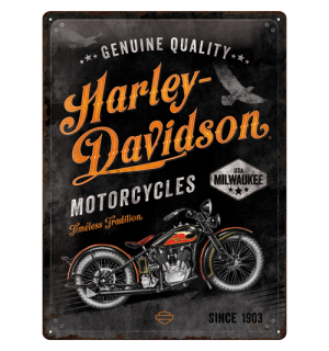 Placă metalică: Harley-Davidson  (Timeless Tradition) - 40x30 cm