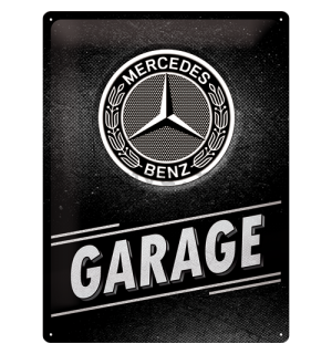 Placă metalică: Mercedes-Benz Garage - 40x30 cm