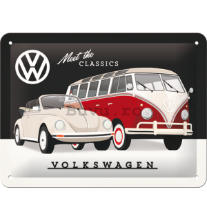 Placă metalică: VW Meet The Classics - 15x20 cm