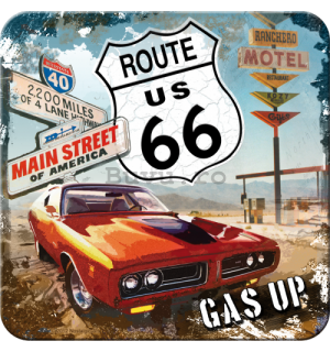 Set de suporturi 2 - Route 66 (red car)