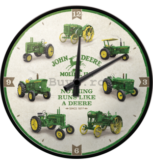 Ceas retro - John Deere (Model Chart)