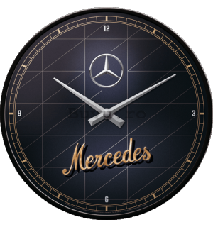 Ceas retro - Mercedes-Benz (Silver & Gold)