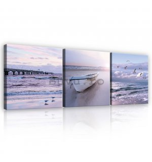 Tablou canvas: Coast - set 3 buc 25x25cm