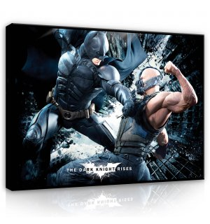 Tablou canvas: Batman & Bane - 100x75 cm