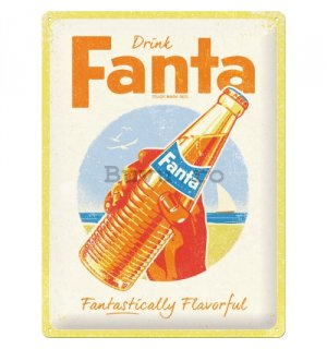 Placă metalică: Fanta (Fantastically Flavorful) - 40x30 cm
