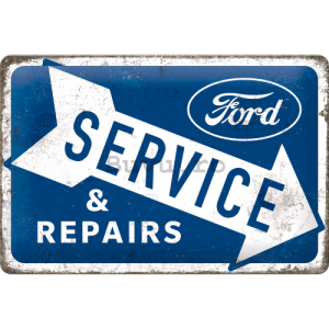 Placă metalică: Ford (Service & Repairs) - 30x20 cm