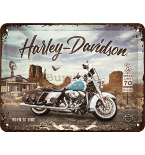 Placă metalică: Harley-Davidson Route 66 Road King Classic - 20x15 cm