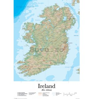Poster - Ireland Map