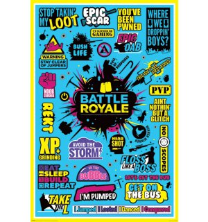 Poster - Battle Royale (Infographic)
