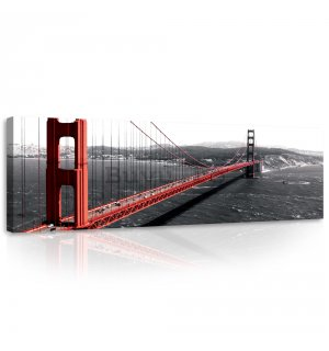 Tablou canvas: Golden Gate Bridge (1) - 145x45 cm