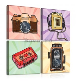 Tablou canvas: Pop Art - set 4 buc 25x25cm